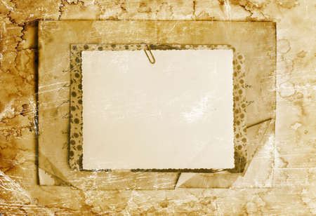 Vintage background with old paper, letters and photos Stock Photo - 13755961