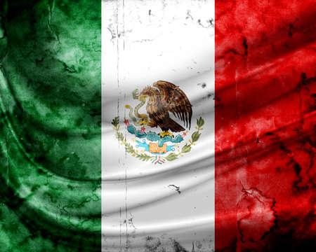 Grunge flag Mexico Stock Photo - 14041280