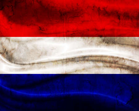 Grunge flag Netherlands photo