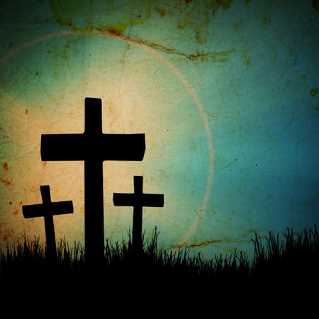 cross on the grunge background Stock Photo