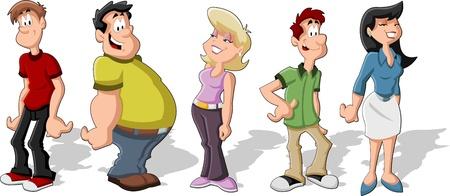 pandilleros: Grupo de personas de dibujos animados Amigos