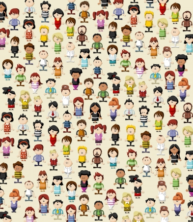 happy client: Background   wallpaper   texture of funny cartoon people