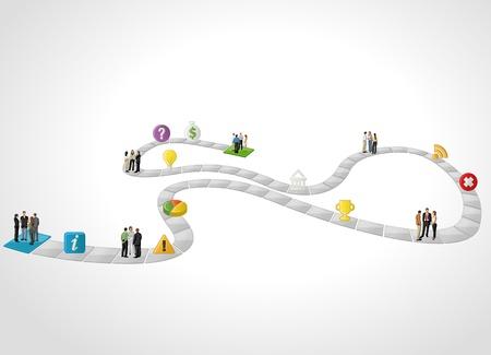 bit: Brädspel med företagare över bana