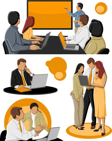 Group of business people Stock Vector - 16876071