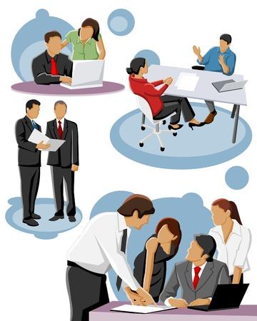 jovenes en grupo: Grupo de personas de negocios Vectores