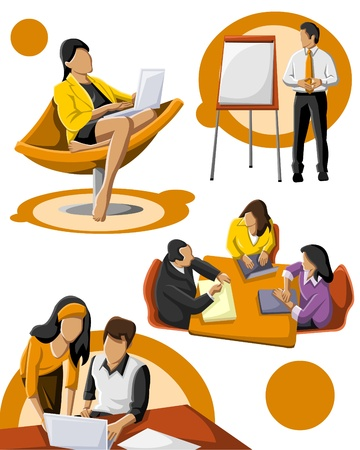 casual business team: Group of business people
