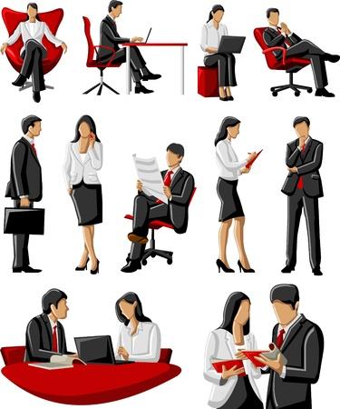Groep van mensen uit het bedrijfsleven Vector Illustratie