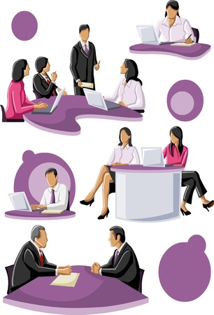 client meeting: Group of business people  Illustration
