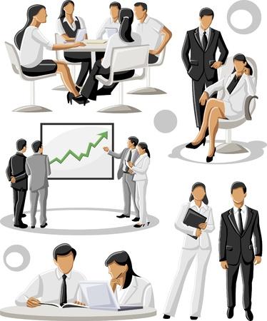 la société: Groupe de gens d'affaires