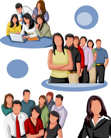 gang: Group of business people  Illustration