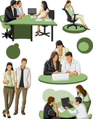 corporate social: Gruppo di uomini d'affari Vettoriali
