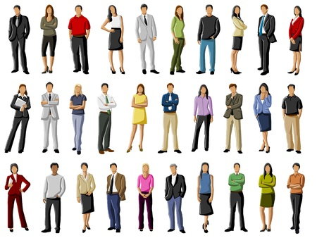 people in business: Group of business people  Illustration