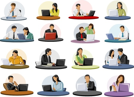 Group of business people Vector