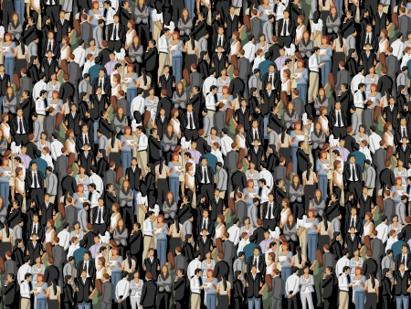 office background: Background with hundreds of business people Illustration