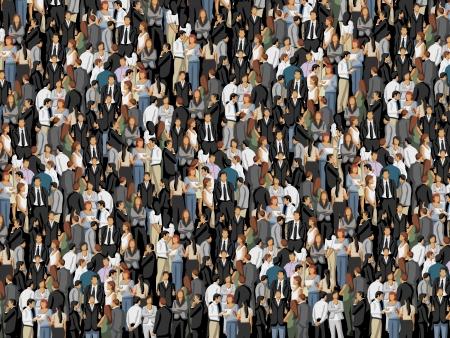 Hintergrund mit Hunderten von Geschäftsleuten