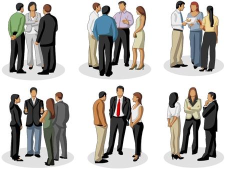 会議のビジネス人々 のグループ  イラスト・ベクター素材
