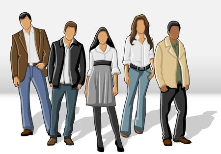 manager team: Group of business people  Illustration