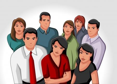 Un groupe de gens d'affaires