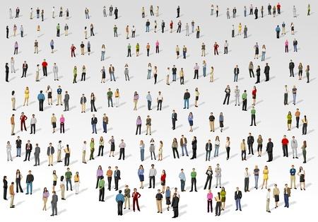 la société: Grand groupe de personnes sur fond de