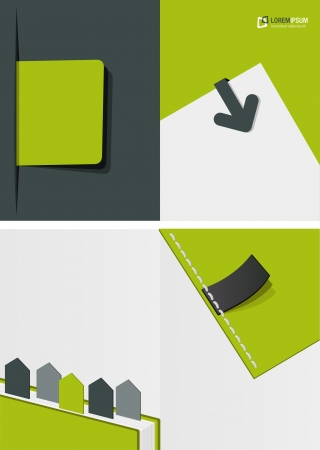 Green template for advertising brochure  Vector