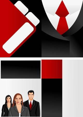 Suit with red tie template for advertising brochure with business people Stock Vector - 16932774