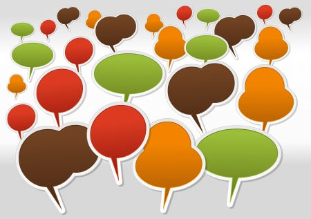 Large set of Speech balloon icons Stock Vector - 16951599