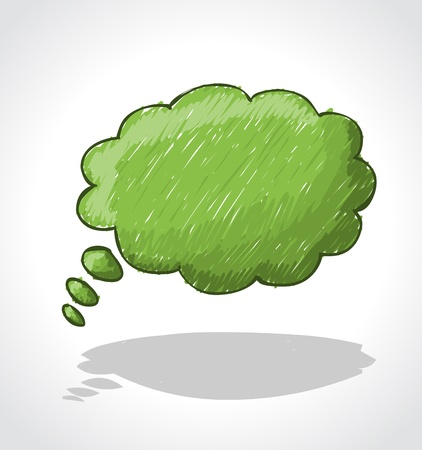 requesting: Green speech balloon icon  Thought bubble