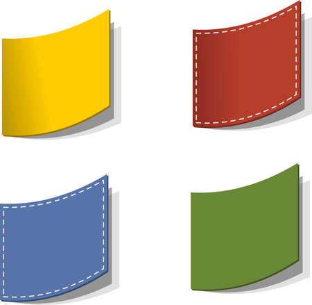 Colorful paper post it, label