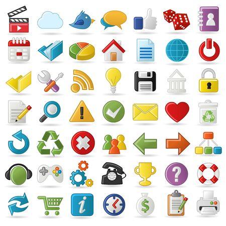 Internet, Website icons Set Stock Vector - 18452462