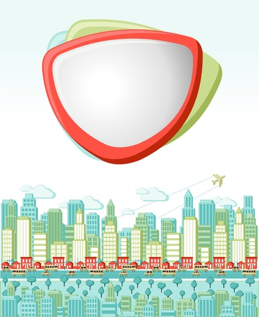 Colorful cartoon city landscape Vector