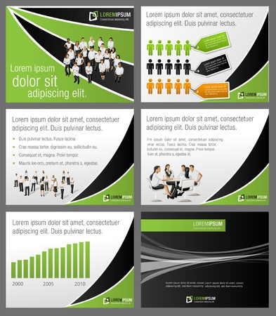 Business Template.  Vector