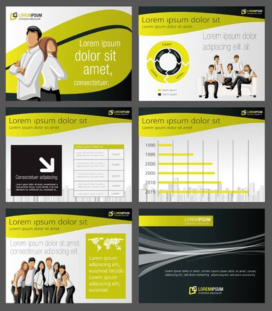 Business Template. Vector illustration.  Vector