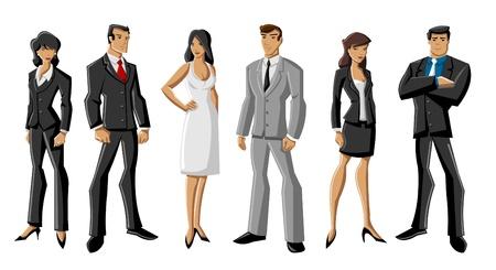pandilleros: Grupo de hombres de negocios de dibujos animados Vectores