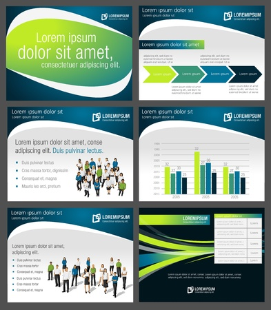 Template for advertising brochure with business people Vector