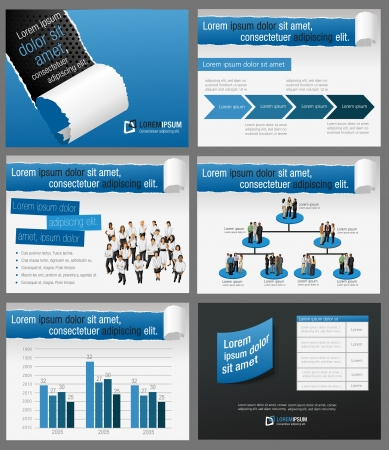 man and banner: Template for advertising brochure with business people