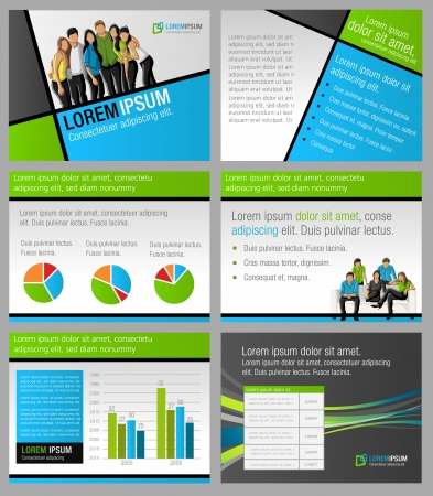 magazine template: Template for advertising brochure with business people