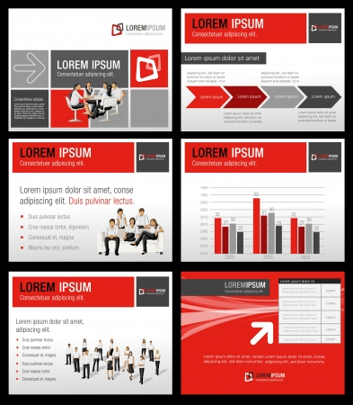 business presentation: Template for advertising brochure with business people