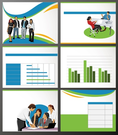Template for advertising brochure with business people Stock Vector - 18933750