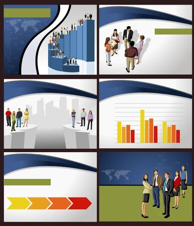 Template for advertising brochure with business people Stock Vector - 18933809