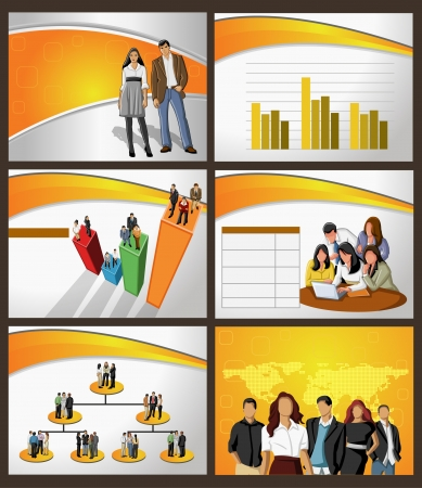 Template for advertising brochure with business people Stock Vector - 18933582