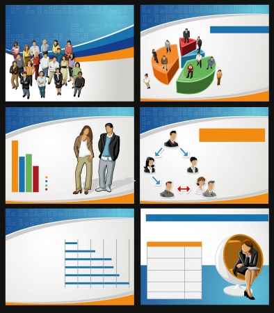 Template for advertising brochure with business people Stock Vector - 18933781