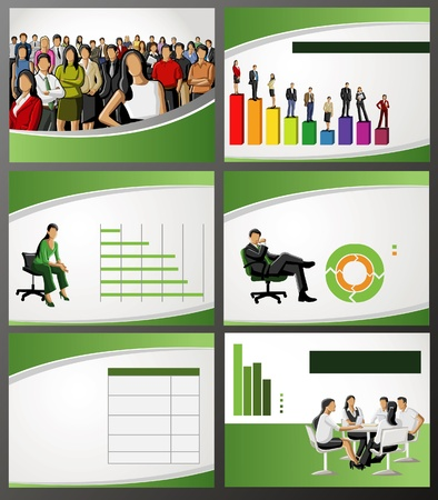 poster presentation: Template for advertising brochure with business people