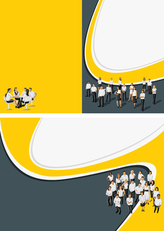 page design: Yellow template for advertising brochure Illustration