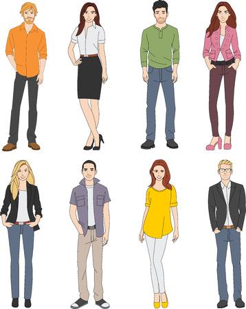 Groep jonge mensen uit het bedrijfsleven Vector Illustratie