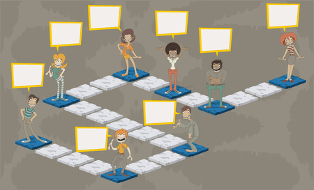 gioco da tavolo con persone con più di percorso