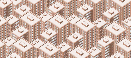 tall buildings: Big isometric city with tall buildings. Skyscrapers. Illustration