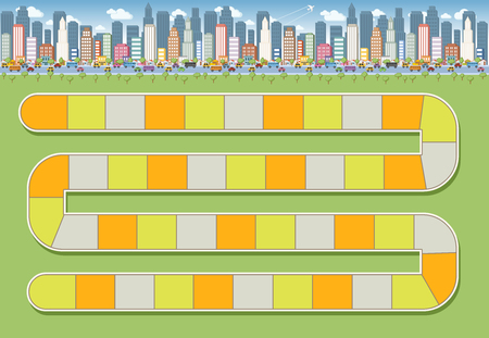 Board game with a block path in the city