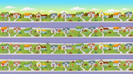 case colorate: Case colorate per le strade del quartiere borgo.