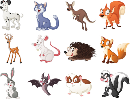 Group of cartoon animals.