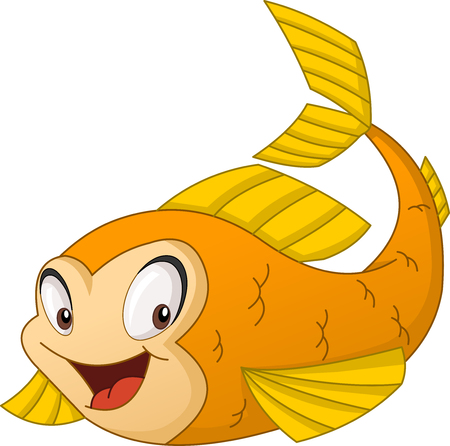 Cartoon gold fish.
